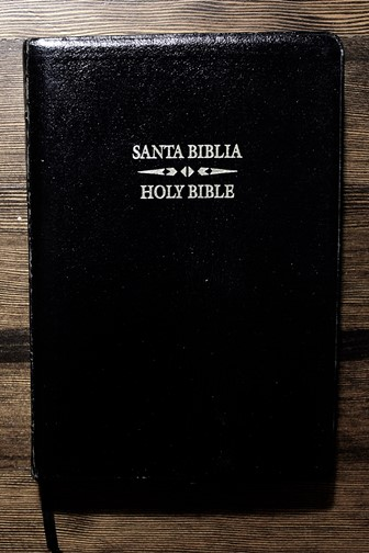 bilingual Spanish and English Bible (front cover)
